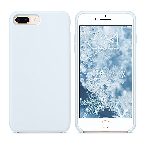 xhorizon iphone 5 cases SURPHY Silicone Case Compatible with iPhone 8 Plus Case iPhone 7 Plus Case, Soft Liquid Silicone Rubber Slim Phone Case Cover with Microfiber Lining for iPhone 7 Plus iPhone 8 Plus 5.5 inch (Sky Blue)