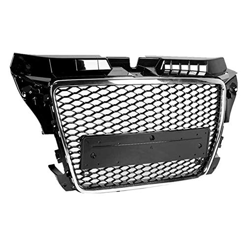 ZNZZJ Grilles For A3/S3 8P 2009 2010 2011 2012 Car-styling Front Grille For RS3 Style Front Mesh Grill Grille Car Modified Accessory