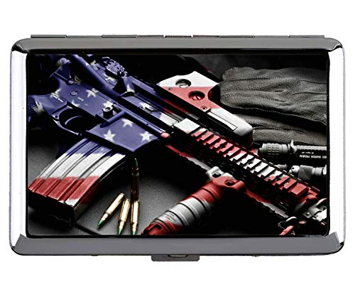 Cigarette Case,Colt AR-15 Firearm Gun Patriotic RifleProfessional Business...