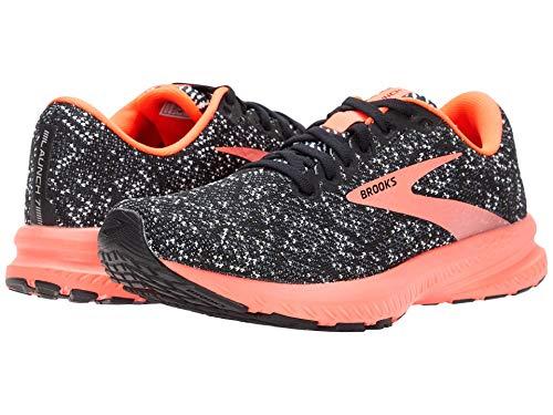 Brooks Launch 7 Black/Fiery Coral 7.5 B (M)