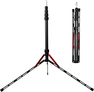 BESNFOTO Carbon Fiber Light Stand Tripod 240cm/ 7.2ft Lightest Photographic Stand Photo Studio Tripod for Softbox Umbrella Video Shooting Reflector 535 Grams with Carrying Bag