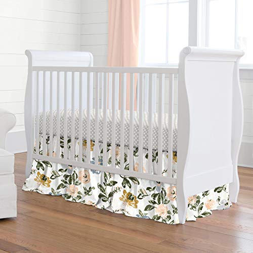 Why Choose Carousel Designs French Gray and Peach Garden 3-Piece Crib Bedding Set