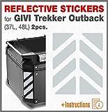 2pcs RIFRANGENTI ADESIVI Compatible con GIVI Baúl Trekker Outback Monokey,...