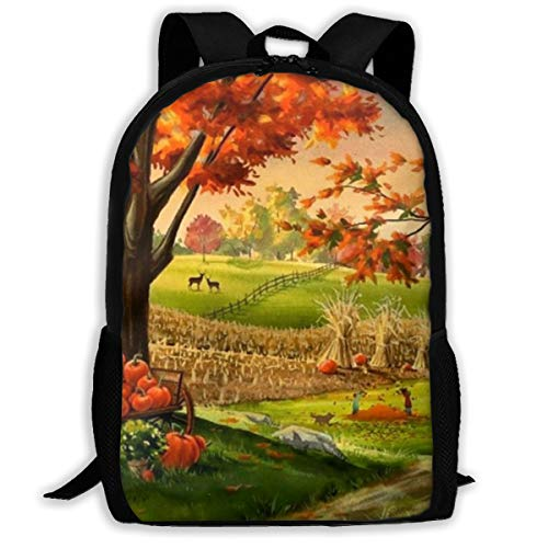 Best Thanksgiving Day Large Capacity Travel Notebook Computer Backpack, Adult Printed Backpack, Anti Splash Student School Backpack