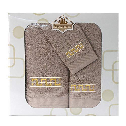Westward Ho! 1133LB Destino - Juego de toallas (3 piezas, 1 unidad), color marrón