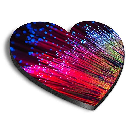 Destination Vinyl ltd Imanes de fibra óptica MDF con diseño de corazón...