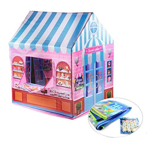 OMGPFR Tipos de teatros de Carpas para niños Juego Plegable portátil para bebés en el Juego Carpa de casa Interior Tipi Dream Carpa de Tela para niños,Rosado