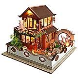 WSYGHP Kit de casa de madera hecha a mano moderno de construcción de casa de estilo chino clásico sin cubierta de polvo (color: sin cubierta de polvo)
