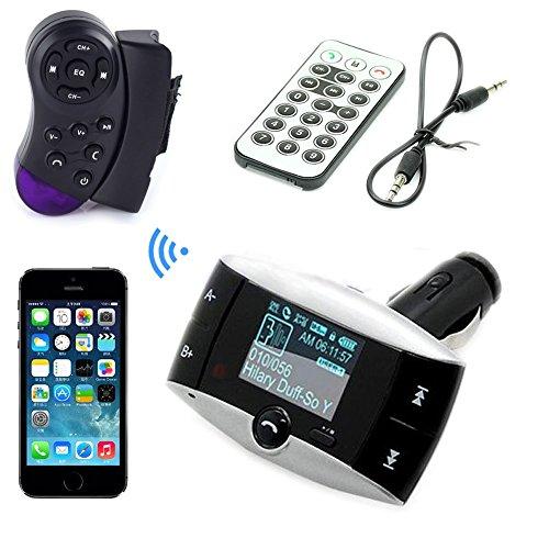 3,5-mm-Audio Car Kit Lenkrad-Steuerung + MP3-Player FM Transmitter Radio-Modulator mit USB SD MMC + Fernbedienung Unterst¨¹tzung Freisprecheinrichtung