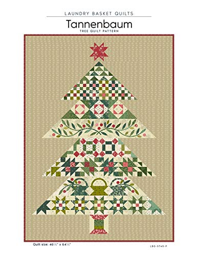 Tannenbaum Christmas Tree Quilt Pattern by Laundry Basket Quilts 46.5