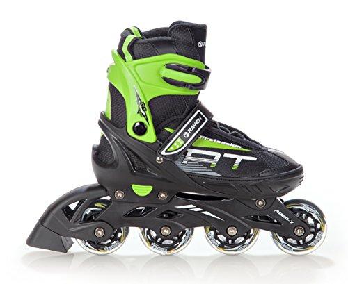 RAVEN Inline Skates Inliner Profession verstellbar (Black/Green, 38-42(25cm-27,5cm))