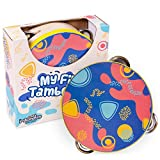 My First Tambourine | Kids Mini Musical Instrument Wooden Toy | Helps Children Learn Rhythm, Dynamics, and Tempo | Interactive Classroom Percussion Activity for Music Teachers and Parents of Toddlers