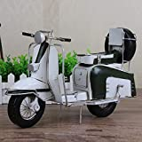 Yikuo Dekorationen -Wholesale Mode Antik Schmiedeeisen Auto-Modell Mini Little White Scooter Modell Kreative Geschenke Metal Crafts Haus 37 * 22 * ​​15cm Gut gemacht