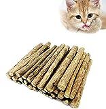 30 palitos de gato de la hierba gatera, matatabi natural orgánico (vid plateada) golosinas dentales dientes molienda masticar palos juguetes para gato gatito gatito