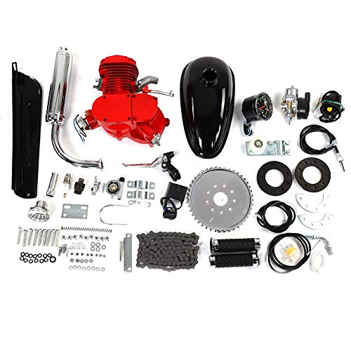 【𝐎𝐬𝐭𝐞𝐫𝐧】 Fahrrad-Motor-Kit, 80CC Bike Motorisierte Fahrrad 2-Takt-Zyklus Benzinmotor Motor Kit Set Tachometer