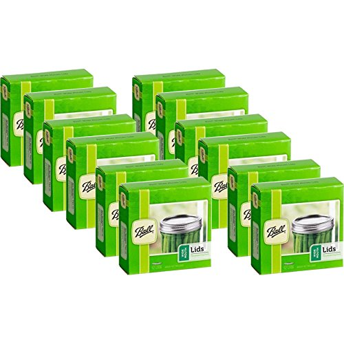 Ball Wide Mouth Mason Jar Canning Lids 12 Dozen or 144 Lids Total