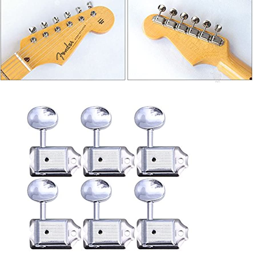 Morrenz - 6 in Line Nickel Vintage for Fender Style Machine Heads Tuning Pegs for Strat Hot