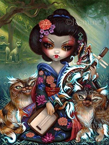 """Kirin and Bakeneko"" SIGNED Glossy Photo by Quality inspection B Ranking TOP14 Art Jasmine Prints"