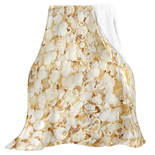 Oarencol Popcorn Fun Novelty Food Throw Blanket Soft Flannel Fleece Lightweight Blankets for Bed...
