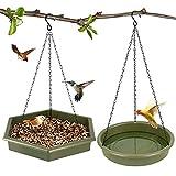 Hanging Bird Bath,Bird Bath - Bird Feeder, 2 in 1 XL Hanging...