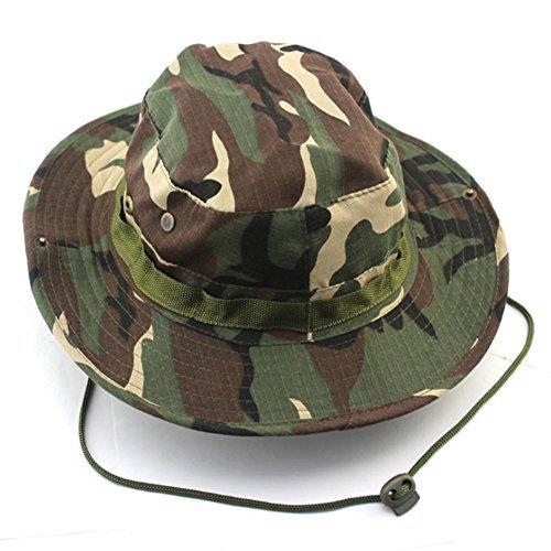 Amazing-trading - Chapeau Soleil Style Militaire Camouflage forêt pour Hommes - Bleu Marine