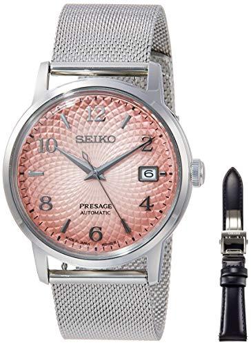 [セイコーウォッチ] 自動巻き腕時計 プレザージュ PRESAGE(プレザージュ) メカニカル 自動巻(手巻つき) カクテルモチーフ 限定5,000本 替えバンド付き(革カーフバンド) アラビア数字表記 SARY169 メンズ シルバー
