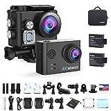 Action Cam 4k, WiMiUS Actioncam 12MP Ultra HD WIFI Unterwasserkamera 40M mit 2 Akkus und...