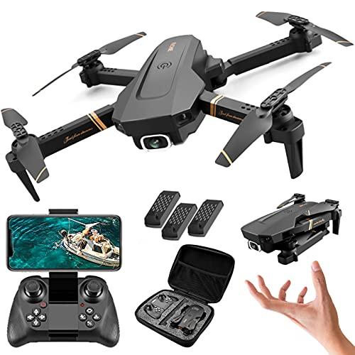XFTOPSE V4 Drone com Câmera, Mini Drone Profissional 4K HD com 2.4G WIFI FPV Vídeo ao Vivo, Tempo de Vôo de 20 Minutos, Dobrável RC Quadcopter para Iniciantes, Follow Me, 360 ° Flip, Preto