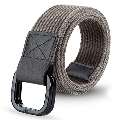 ITIEZY Cintura Uomo, Cintura da Uomo Donna in Tela Fibbia Metallo D-ring Unisex Militare Tattica Casuale Sportiva