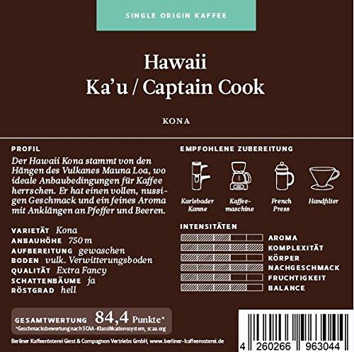 BKR   Kaffee   Hawaii   Kona Extra Fancy   Arabica   Single Origin 125g Gemahlen
