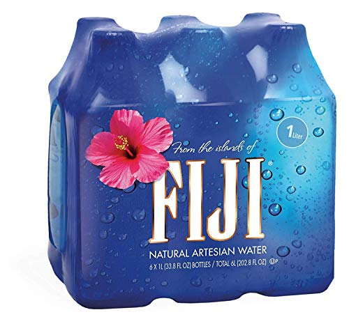 FIJI Natural Artesian Water, 1.0L Bottles (Pack of 6)