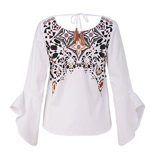 CONLEYS LYKKELIG Bluse Weiß 34 Weiß Größe 34