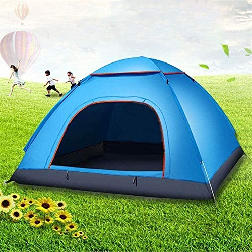 Automatic Speed Open Tent Single Ultra Light Outdoor Camping Tentcouple Outdoor Double Tent,for Beach, Garden, Camping, Fishing, Picnic,200 * 200 * 130CM (Color : Blue)