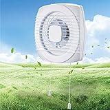 Exhaust Fans Ventilación Ventilador Ventilador de 4 Pulgadas Mini Cocina Cuarto de baño WC Pared de la Ventana de tracción Tipo de ventilación del Ventilador 1028