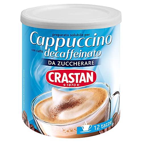 Crastan - Cappuccino Solubile Decaffeinato Da Zuccherare - Barattolo da 150 Grammi - 12 tazze