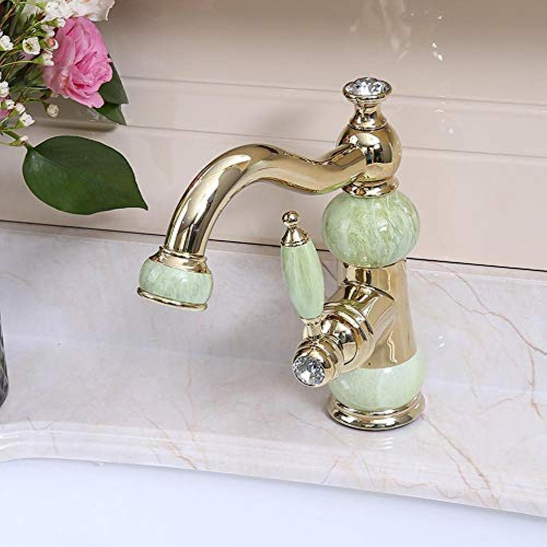 Luziang Bassinhahn Kupfer Einlochmontage Hei- und Kaltwasserhahn Waschbecken Becken antiker Wasserhahn- Sicherer für in Bad WC Küche