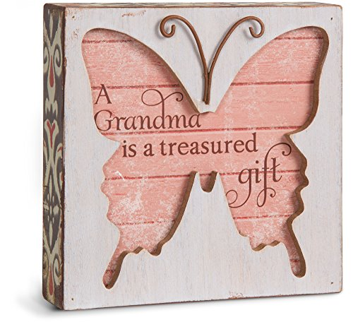Pavilion Gift Company Simple Spirits 41087 Grandma Butterfly Plaque, 4-1/2""