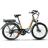 Extrbici Bicicleta eléctrica para Adultos Damas Todo Terreno Deportes Fitness Verde bajo en Carbono Herramientas de Viaje Deportes Fitness 500W 48V14AH XF200 (Gris Anaranjado)