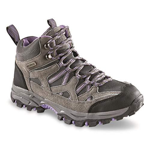 Itasca Women's Waterproof Vista Hiking Boots, Gray/Purple, 8.5B (Medium)