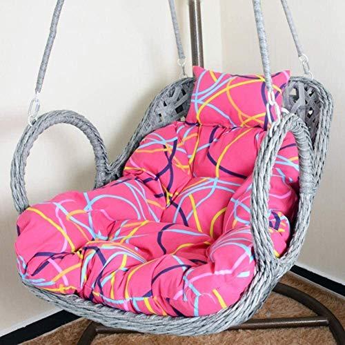 Cojines al aire libre para Sillas de Patio Cojín de la silla columpio for espesar el exterior Colgando Cojín huevo silla de la hamaca, Overstuffed Patio Cesta colgante Presidente del amortiguador del