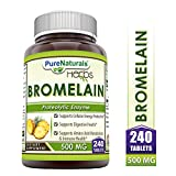 Pure Naturals Bromelain Dietary Supplement 500 mg Tablets - Supports Healthy Digestion, Anti- Inflammatory Support* (240 Count)