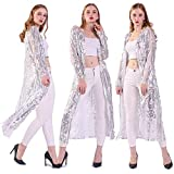 Women's Sequin Loose Casual Open Front Cardigan Coat Dress Summer Party Prom Sweater (L, Silver)