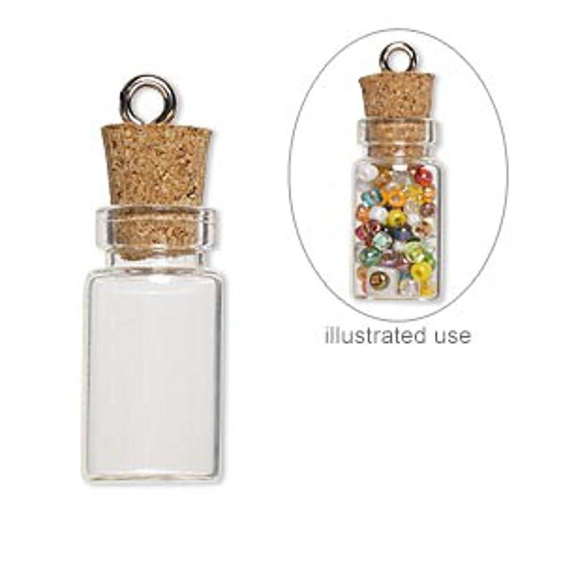 20 Mini Glass Bottles 1-inch Message Treasure Charm Pendant Kit Makes 20 Bottle Pendants