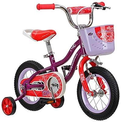 Schwinn Elm Girls Bike for Toddlers and Kids, 12-Inch Wheels, Purple