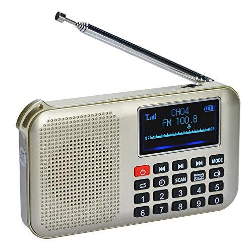 COVVY Enceinte radio FM MP3 portable solaire,...