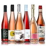 GEILE WEINE Weinpaket ROSE (6 x 0,75) Roséwein trocken im Probierpaket von Winzern aus Deutschland, Italien und Südafrika