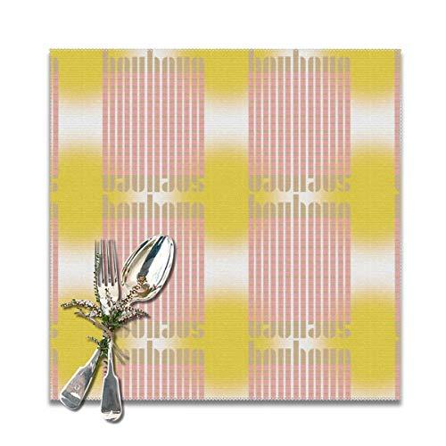 Rasyko Bauhaus - Set di 6 tovagliette per tavolo da pranzo, lavabili e resistenti al calore