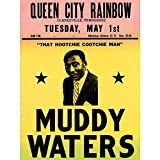 Wee Blue Coo Music Concert Advert Muddy Waters Legend Blues USA Art Print Poster Wall Decor 12X16 inch