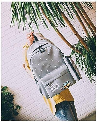 SEBAS Home Personnalité Sacs à Dos Creative voituretoon Grande Capacité Toile Sac à Dos étudiant Mode Scolaire (Couleur   gris)