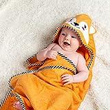 BEING Baby | Baby Kapuzen Badetuch | Luxus Bambus Baumwolle Handtuch & Gesicht Tuch Set | Extra groß 90 cm x 90 cm | weich und saugfähig (500 g / m²) | Perfektes Unisex-Geschenk